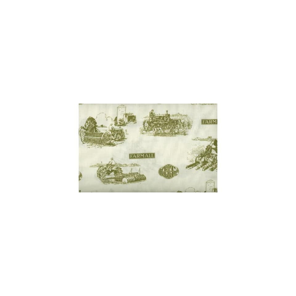 International Harvester Tractor Days Fabric By Springs 100% Cotton 44 Wide By the Yard