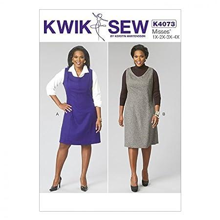 Kwik Sew Ladies Sewing Pattern 4073 Pinafore Dresses: Amazon.co.uk ...