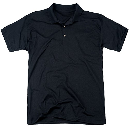 Back To The Future Mens Poster (Back Print) Polo, X-Large, Black