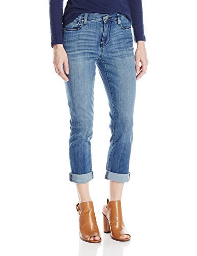 (DKNY Jeans Women's Soho Skinny Rolled Crop Jean (2, Acid Blue))