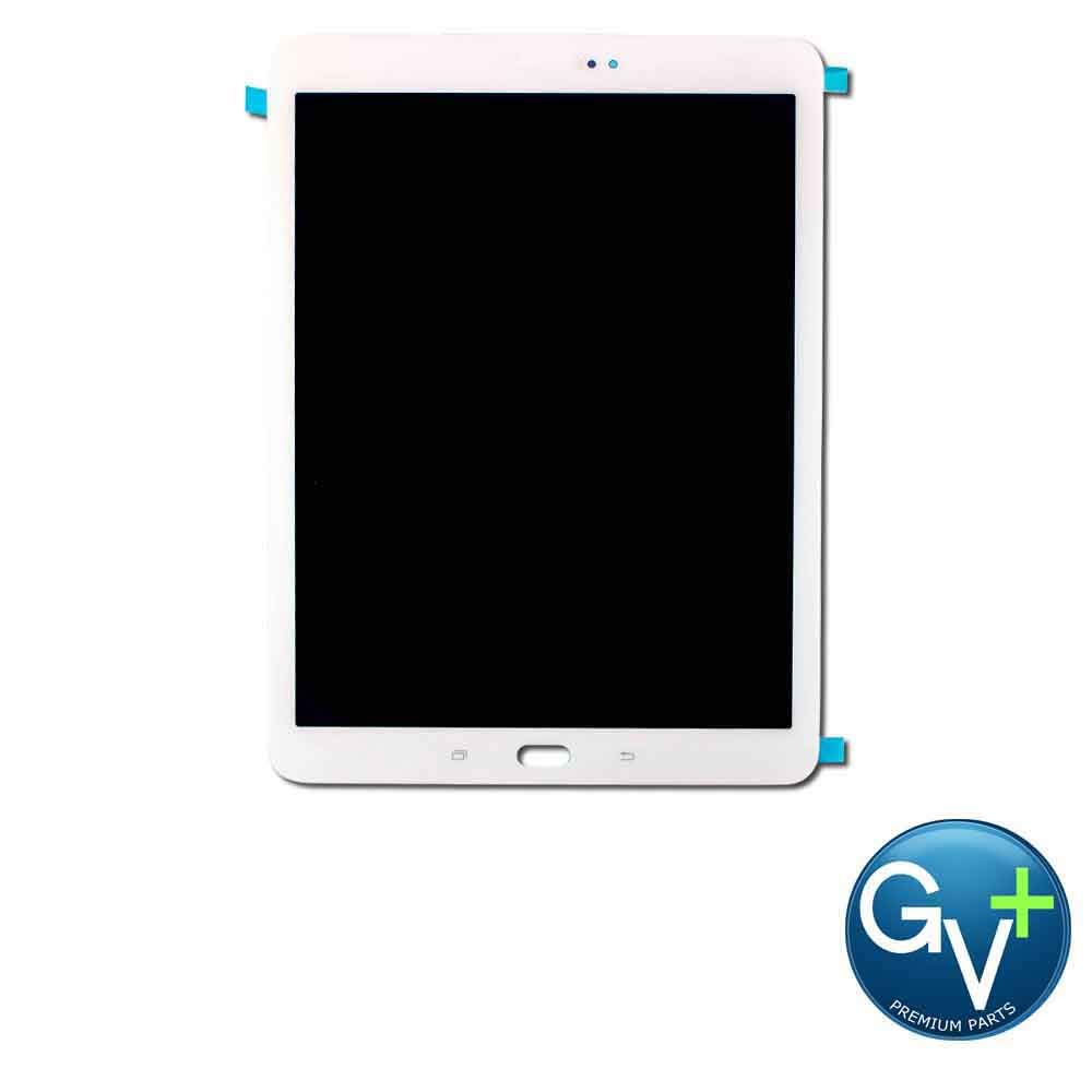 Group Vertical Replacement Screen LCD Digitizer Assembly Compatible with Samsung Galaxy Tab S2 9.7 SM-T810, SM-T815, SM-T817 (9.7'') (White) (GV+ Performance)
