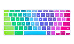 Casebuy Ultra Thin Colorful Keyboard Protector Cover For Asus Chromebook Flip C302ca 12.5-inch Chromebook Laptop, Rainbow