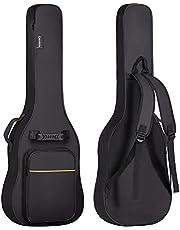 CAHAYA Electric Guitar Bag Gig Bag 6mm Padding Backpack Padded Soft Guitar Case Black