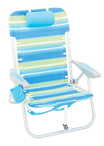 Rio Beach Lace-Up Suspension Folding Beach Chair, Cool (Aluminum Chairs Rust Proof)