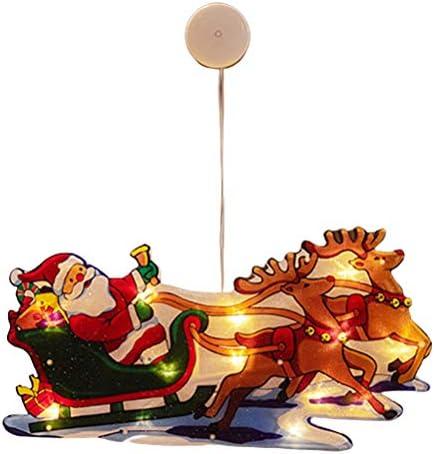 HEITIGN Kerst LED Vensterverlichting Kerst Verlichte Venster Decoraties Sfeerverlichting Zuignap Batterij Aangedreven Nieuwigheid Opknoping Lichten Venster Lichten voor Kerstfeest Decoratie