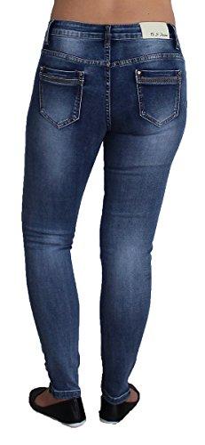 B Vaqueros mujer Básico S para skinny Azul Jeans raxr8qH
