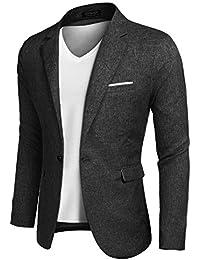 300a56f8629 Men s Casual Suit Blazer Jackets Lightweight Sports Coats One Button