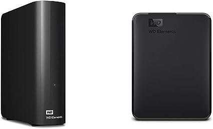 【セット買い】WD HDD 外付けハードディスク 10TB Elements Desktop USB3.0 WDBBKG0100HBK-JESN / 2年保証 & HDD ポータブルハードディスク 4TB WD Elements Portable WDBU6Y0040BBK-WESN USB3.0/2年保証