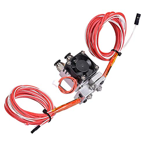 ReFaXi 2 in 1 out Dual Head Extruder Hot End V1 0.4mm Nozzle for 1.75mm Filament 3D Printer