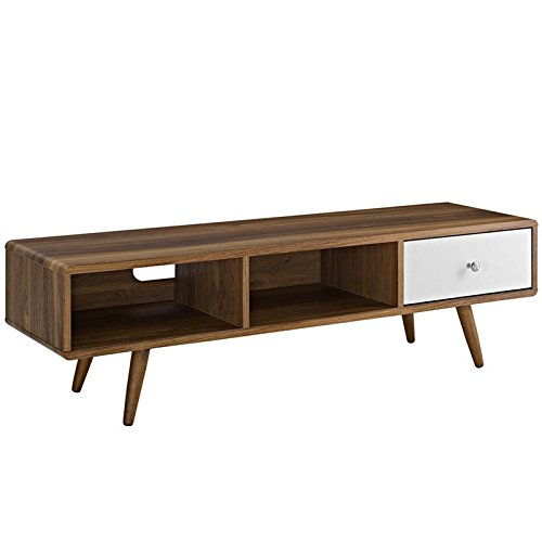 Modway Transmit Mid-Century Modern Low Profile 55 Inch TV Stand in (Lacquered Bedroom Furniture)