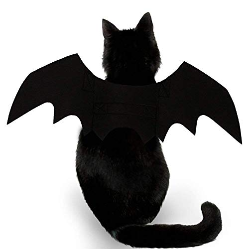 OPII Halloween Pet Bat Wings Cat Dog Bat Costume ()
