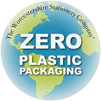 A7 Notizblock, Normal, Packung mit 5 Stück, 80 g / m², 50 Blatt pro Block, Zero Plastic Packaging