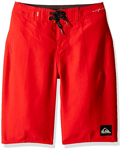 Quiksilver Boys' Big Highline Kaimana Youth 19 Boardshort Swim Trunk, Quick red, 23/10S