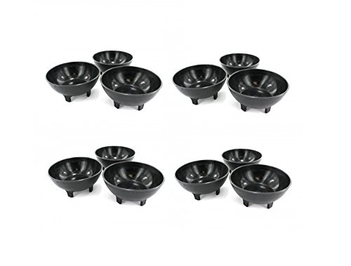12 Ounce Black Salsa Bowls (Pack of 12 Bowls, Size: 5