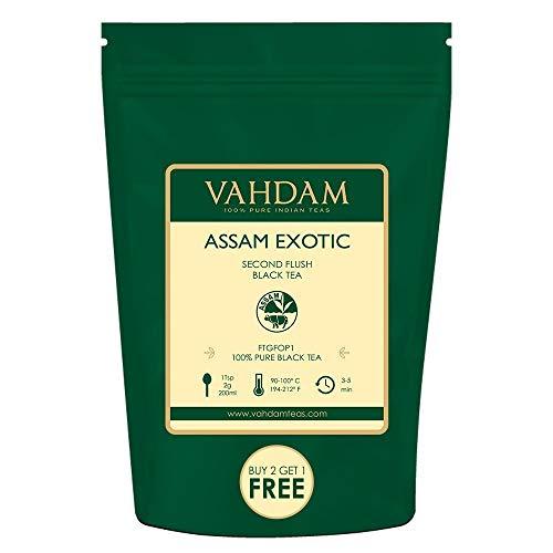 VAHDAM, Assam Tea Leaves with Golden Tips, 3.53 Oz (50 Cups) - Strong, Malty & Rich - Exotic Assam Tea Loose Leaf - 100% Certified Pure Assam Black Tea - English Breakfast Tea (Tea Assam Pure)