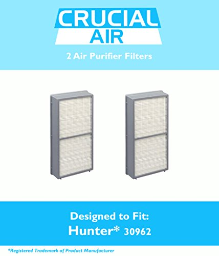 2 Hunter 30962 Air Purifier Filters Fits Models 30730, 30713 & 30730, Designed & Engineered by Crucial Air