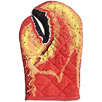 Shengruhua Cartoon Animal Oven Mitts Thickened Heat Resistant Oven Gloves Baking Insulated Lobster Clamp Cat Gloves 1 Pairs kindhearted