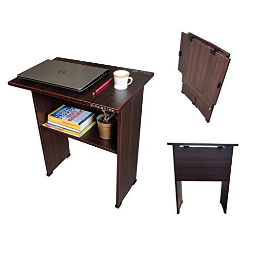 Urbain Home Engineered Wood Laminated Folding Work from Home Computer Table for Laptop Study Office Desk, No-Assembly…