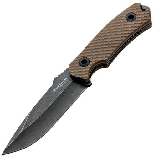 Boker USA Magnum Sierra Foxtrot III Fixed Blade Knife,4.75in 440 Stainless Steel Blade,G10 Handle