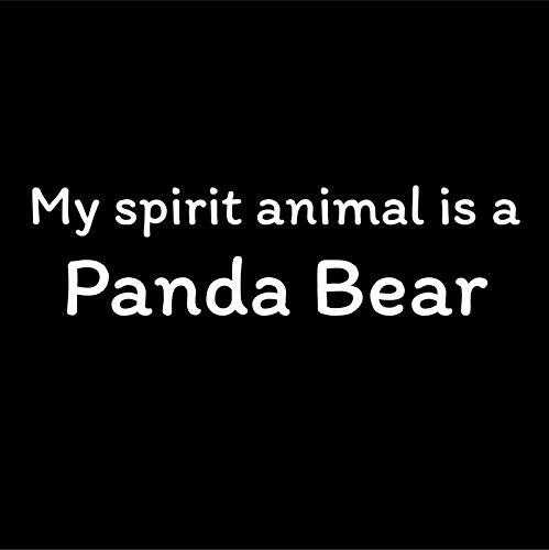 Panda Vinyl (My Spirit Animal is A Panda Bear Vinyl Decal Sticker - Car Truck Van SUV Window Wall Cup Laptop - One 7 Inch Decal - MKS0755)