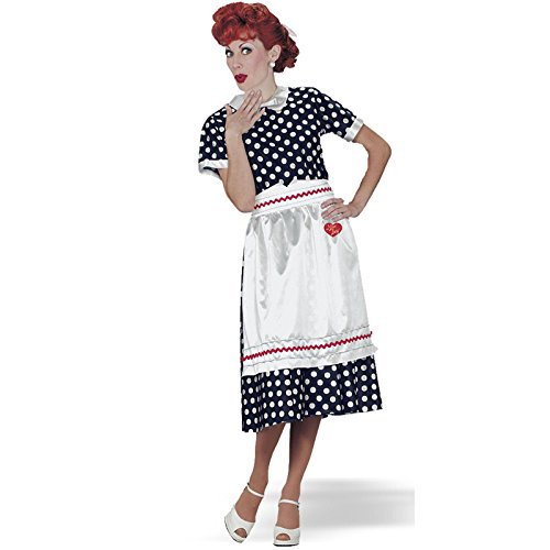 Lucy Poka Dot Dress Adult Costume - (Plus Size I Love Lucy Costumes)