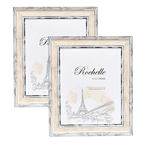 Tray Frame Photo - 8x10 Picture Frame Distressed Cream - 2-Pack Frames by EcoHome
