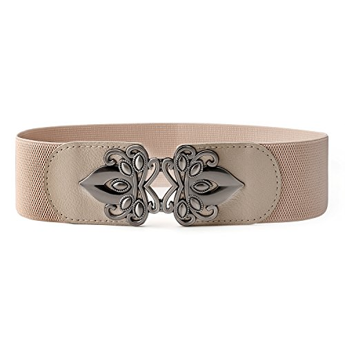 Wear Cinch Belt (JasGood Women's Fashion Vintage Wide Elastic Stretch Adjustable Waist Cinch)