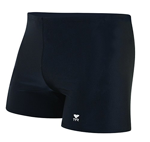- TYR Men's Male Solid Square Leg, Black, 34