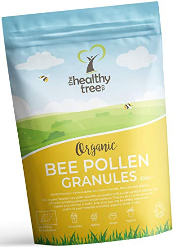 TheHealthyTree Company Organic Spanish Bee Pollen Granules – High in Vitamins B1, B2, C, E, Biotin, Copper and Folic…