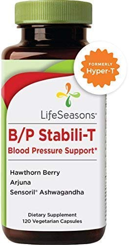 LifeSeasons - B/P Stabili-T - Blood Pressure Supplement - Helps Prevent Plaque Build Up - Improves Cardiovascular Health and Blood Circulation - with Ashwagandha, Hawthorn Berry (120 Capsules)