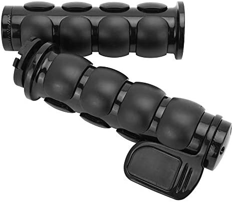 TRHB114C-25 HTTMT Chrome 1 25mm Rubber Hand Grip Compatible With Harley Davidson FXDWG Dyna Wide Glide