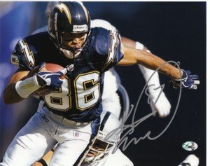 Athlon CTBL-003587a Keenan McCardell Signed San Diego Chargers 8 x 10 Photo