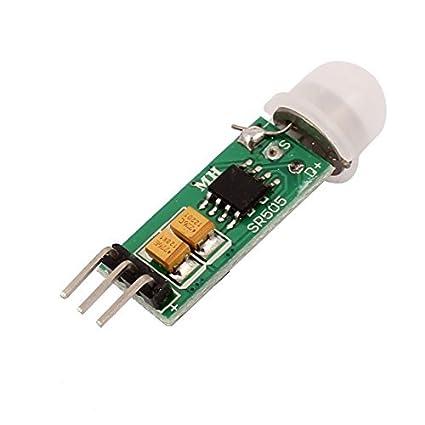 eDealMax HC-SR505 Mini Pyroelectric del modulo del sensore PIR del corpo umano di movimento