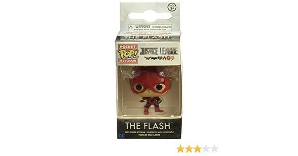 DC- The Llavero de Vinilo Flash, colección Justice League, Multicolor (Funko 13791)