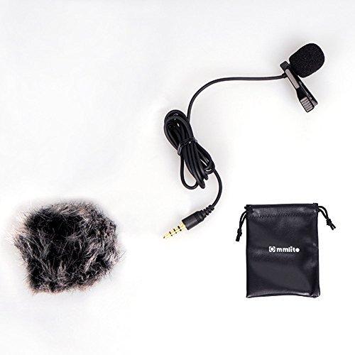 Omni Directional Studio Condenser (Commlite Lavalier Microphone Clip-on Omni-directional Condenser Mic for Smartphones)