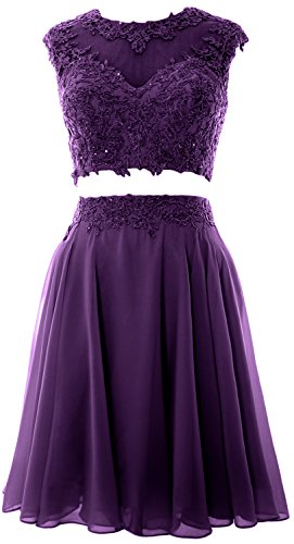 Prom MACloth Gown Vintage Eggplant 2 Lace Dress Women Party Homecoming Wedding Piece r5Ivrqw