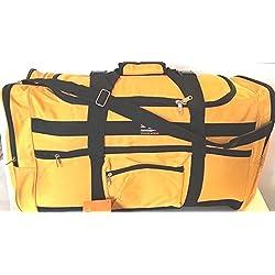 "28"" 50lb. YELLOW W/Black Trim Duffle Bag/ Gym Bag / Luggage / Suitcase/Tote"
