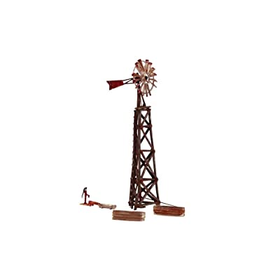 Woodland Scenics HO Built-N-Ready Old Windmill (Weathered): Toys & Games