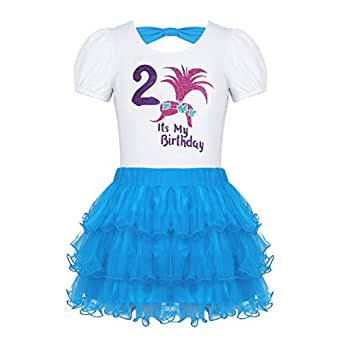 dPois Vestido Princesa Elegente Casual Niña Camiseta + Falda ...