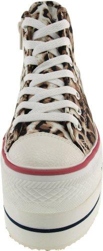 Maxstar  CN9-8H,  Damen Sneaker Low-Tops Leopard-Brown