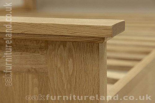 Biselado 121,92 cm 15,24 cm madera de roble para cama de matrimonio ...