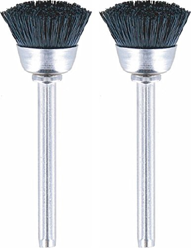 Dremel 404-02 Nylon Bristle Brushes (2 Pack), 1/2' Diameter