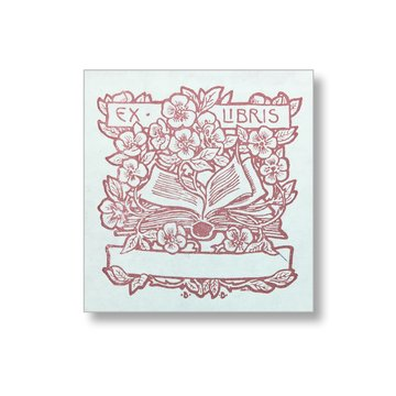 Saturn Press Handmade Letterpress Garden Flowers Bookplates, Garden Nature Made in the USA