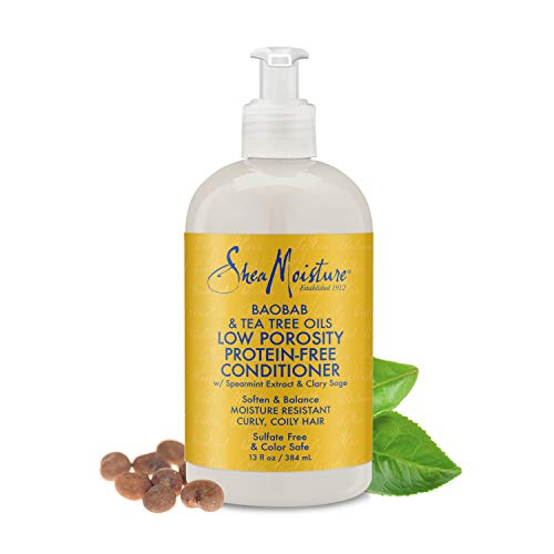 Shea Moisture Shea Moisture Baobab and Tea Tree Oils Low Porosity Protein Free Conditioner 13 Oz, 13 Fluid Ounce