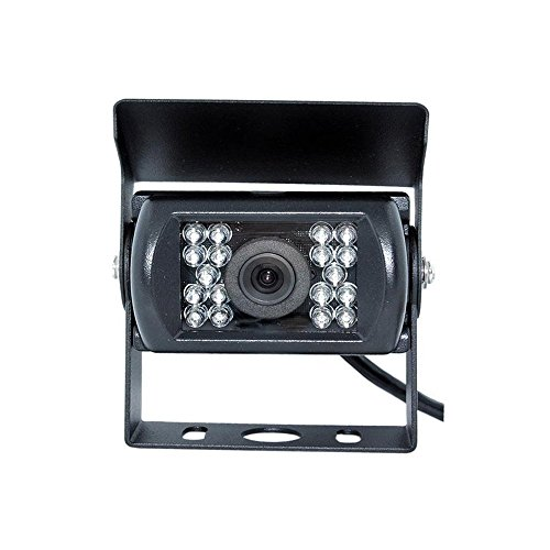 Camecho Vehicle DC 12V -24V Rear View Camera 18 led Night Vision Waterproof Reversing Camera Backup Cameras for Truck/Trailer / Van/Camper