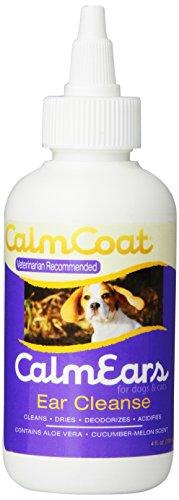 Vet Essentials Calm Ears Ear Cleanse Liquid for Pets, 4-Ounce (Ear Calm)