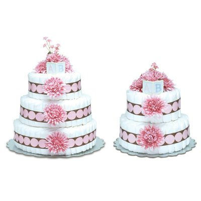 Bloomer Baby Diaper Cakes Large Pink Mums