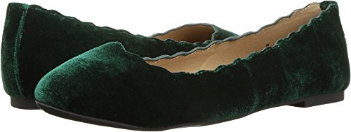 Scalloped Green (Esprit Women's Odette Scalloped Edge Ballet Flats (8.5 B(M) US, Emerald Velvet))
