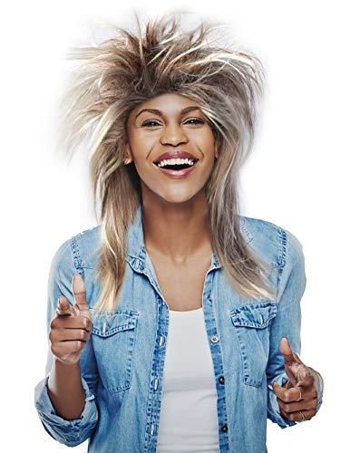 Ike Turner Halloween (Tina Turner Wig Tina Turner Costume Wig Rocker Wig- Blonde and Brown)
