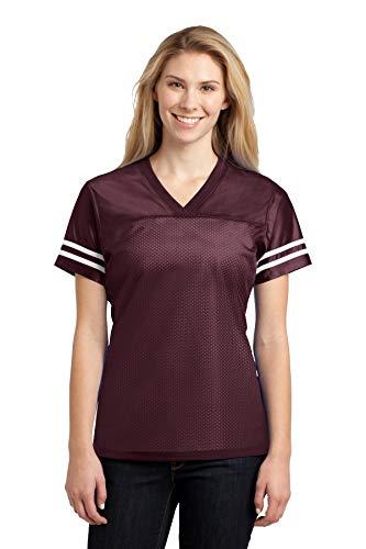 Sport-Tek Women's PosiCharge Replica Jersey, Maroon/White, ()